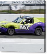 Augmented -- Mazda Miata At The 24 Hours Of Lemons Race In Sonoma, California Acrylic Print
