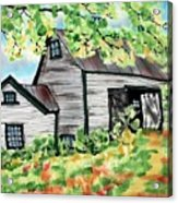August Barn Acrylic Print by Linda Marcille