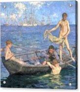 August Blue Acrylic Print