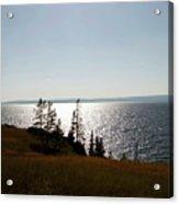 August Evening At Yellowstone Lake Acrylic Print