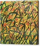 August Floral Acrylic Print