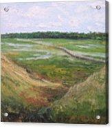 August Marsh Boardwalk Acrylic Print