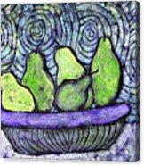 August Pears Acrylic Print