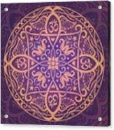 Aum Awakening Mandala Acrylic Print