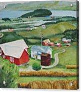 Aune Farm In Selbu Norway Acrylic Print