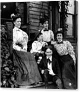 Aunt Emma, Morris, Edith, Fred And Charles On Porch June 12, '97 Acrylic Print