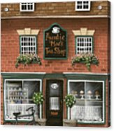 Auntie Mae's Tea Shop Acrylic Print by Catherine Holman