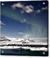 Aurora At Glacier Lagoon Acrylic Print