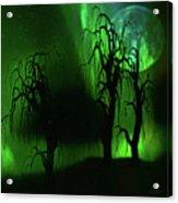 Aurora Borealis Lights - Painting Acrylic Print