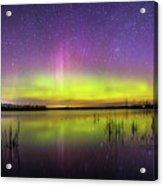 Aurora Borealis Over Lake Sinai Acrylic Print