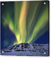 Aurora Borealis Over Toviktinden Acrylic Print