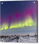 Aurora Borealis Seen From Churchill Acrylic Print