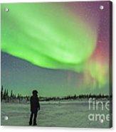 Aurora Borealis With Vega And Arcturus Acrylic Print