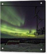Aurora, Night Sky At Alaska, Fairbanks Acrylic Print
