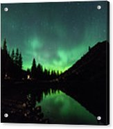 Aurora On Moraine Lake Acrylic Print