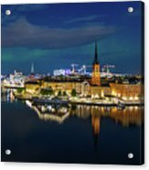 Aurora Over Stockholm In The Fall 2018 Acrylic Print