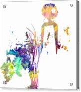 Aurora Yellow Acrylic Print