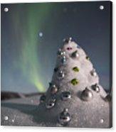 Auroral Christmas Tree Acrylic Print
