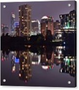 Austin Lights Up Lady Bird Lake Acrylic Print
