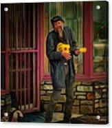 Austin Musician Plays The Blues Acrylic Print