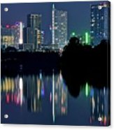 Austin Reflects In Ladybird Lake Acrylic Print