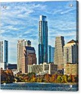 Austin Skyline Panorama Acrylic Print
