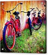 Austin Texas Bikes  -- Original Painting Acrylic Print