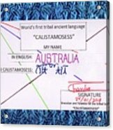 Australia Acrylic Print