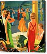 Australia, Romantic Night, Dance And Music, Hotel Terrace Acrylic Print