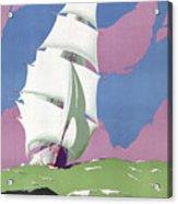 Australia Vintage Travel Poster Restored Acrylic Print