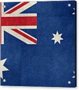 Australian Flag Vintage Retro Style Acrylic Print