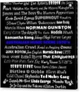 Australian Music Scene 1970's No 7 Acrylic Print