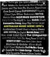 Australian Music Scene 1970's No 8 Acrylic Print