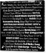 Australian Music Scene 1970's No 1 Acrylic Print