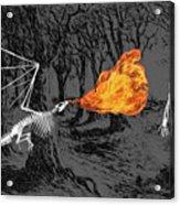 Australopithecus And The Dragon Acrylic Print
