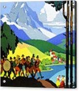 Austria Vintage Travel Poster Acrylic Print