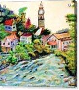 Austrian Alpine Village   Acrylic Print