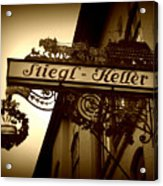 Austrian Beer Cellar Sign Acrylic Print