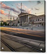 Austrian Parliament In Vienna Acrylic Print