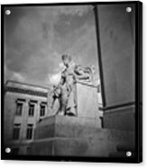 Authority Statue At The Courthouse In Memphis Tennessee Acrylic Print