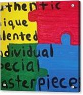 Autism Art Acrylic Print