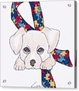 Autism Awareness And Puppy Love Acrylic Print