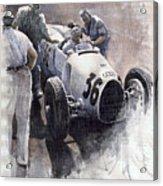 Auto Union B Type 1935 Italian Gp Monza B Rosermeyer Acrylic Print