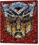 Autobot Transformer Bottle Cap Mosaic Acrylic Print by Paul Van Scott