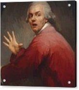 Autoportrait En Homme Surpris Et Terroris 1791 Acrylic Print