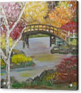 Autum Bridge Acrylic Print