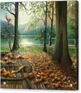 Autum Splendor Bunzen Lake Acrylic Print