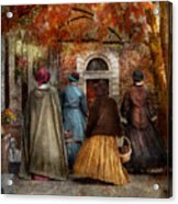 Autumn - People - A Walk Downtown  Acrylic Print