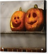 Autumn - Pumpkins - Two Goofy Pumpkins Acrylic Print
