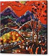 Autumn Adirondack Sunset Acrylic Print